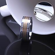 kişiselleştirilmiş hediye unisex halka paslanmaz çelik kazınmış takı
