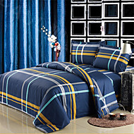 Yuxin® Dark Blue Color Duvet Cover Fashion Soft & Comfortable Stripe Printed Full/Queen/King Size