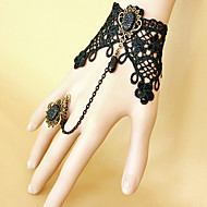 Ladies'  Lace Alloy Chain With Crystal Bracelet