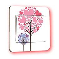 스위치 벽 스티커 벽 데칼, 사랑 나무 PVC 스위치 스티커
