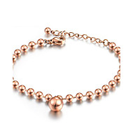 Women's Stainless Steel Gold-plated Fashion Beads Pendant Bracelets
