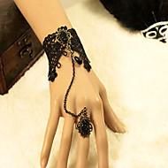 l'Europe et les États-Unis de l'ancienne dentelle noire bracelet bague ensemble femme