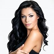 Frauen schnüren sich vordere Perücke 10inch ~ 24inch Indien Haarfarbe (braun # 1 # 1b # 2 # 4) Körperwellenhaar