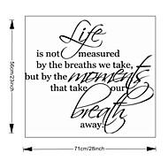 a vida não é medida de decoração para casa adesivos de parede vinil removível zooyoo8109 decorativas adesivos de parede