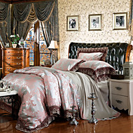 yuxin®tencel tecido modal cetim série do casamento da cama jacquard 4 peça cama conjunto 1.5m-1.8m / 2.0m cama