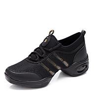 Sapatos de Dança ( Vermelho/Branco/Dourado ) - Mulheres - Não Personalizável - Sapatilhas de Dança/Sapatos para Ensaio