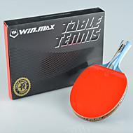 winmax® 1 Stück 5-Sterne-langen Griff Tischtennisschläger mit einer Farbe Verpackungskasten