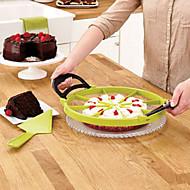 קינוח מחלק עוגת עוגת מבצע חותך פיצה פרוסה מושלם (צבע אקראי) 30 * 30 * 1.5cm