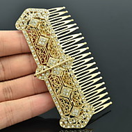 9cm Vintage Style Women Party Jewelry Gold Rhinestone Palace Hair Comb Headband