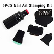 5PCS DIY Nail Art Stamping Printer Machine