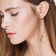 Women's Alloy/Brass Drop Earrings With  Imitation Pearl