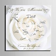 e-home® personlig signatur lerret ramme-hvit rose