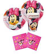 56pcs Minnie Mouse baba születésnapi party dekoráció gyerekek evnent fél által party dekoráció 18 ember használja