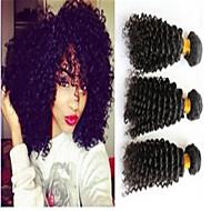 3pcs / lot capelli brasiliani bundle non trattati capelli ricci crespi tesse capelli vergini brasiliani tesse