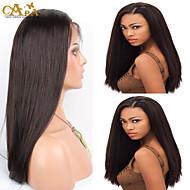"""8 """"-26"""" indian jomfru hår lige limfri helblonde paryk farve # 2 med baby hår for sorte kvinder"""