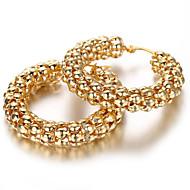 Stainless Steel Ladies Earrings Set, 2pcs,Gold, KE889