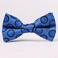 עניבות פרפר - נקודות (כחול , polyster)