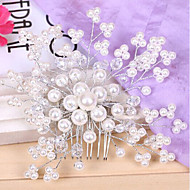 Women's Pearl FLower Hair Combs Headpieces