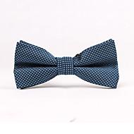 Puntíky - Motýlky (Tmavě modrá , Polyester)