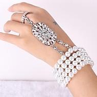 Berlock Armband Pars/Dam Pärla/Strass Silver/Legering