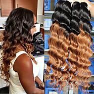 """4pcs / lot 8 """"-24"""" pelo virginal brasileño, mezclar color 1b / 27, suelta la onda, la fábrica de ventas al por mayor del pelo humano sin"""