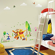 Winnle The Poooh With His Friend Tiger Rabbit Wall Sticker For Kids Room Zooyoo876 Decorative Removable PVC