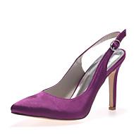 Wedding Shoes - Saltos - Bico Fino - Preto / Azul / Rosa / Roxo / Vermelho / Marfim / Branco / Prateado / Champagne - Feminino -Casamento