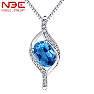 NBE Sterling Silver/Crystal/Gem Necklace Pendant Necklaces/Chain Necklaces Wedding/Party/Daily/Casual 1pc