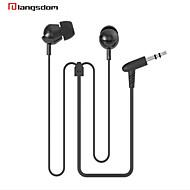langsdom ls-3 en la oreja los auriculares bajos auriculares de 3,5 mm xbs para la música del auricular del teléfono móvil
