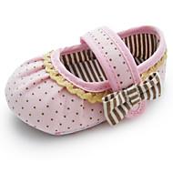 Jente Baby Flate sko Første gåsko Babysko Bomull Vår Sommer Høst Formell Første gåsko Babysko Flat hæl Rosa