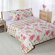 håndlavede patchwork konge dronning pink blomster sommer dyner til piger 100% bomuld
