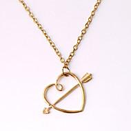 Women's Fashion Jewelry Harry Porter Vintage Casual Alloy Ron Horcrux Love Arrow Through Heart Pendant Necklace