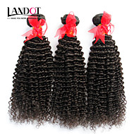 "3 Pcs Lot 12""-30""Unprocessed Brazilian Kinky Curly Virgin Hair Wefts Natural Black 1B# Raw Remy Human Hair Weave Bundles"
