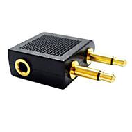 3.5mm Audio Splitter 1 Female to 2 Male 3.5mm Jack Splitter Converter Adapter