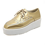 Women's Shoes Kitten Heel Wedges Oxfords Outdoor/Casual Silver/Gold