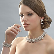 Women's Silver/Alloy Wedding/Party Jewelry Bracelets White Rhinestones/Crystal/Diamond For Bridal