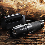 2200LM CREE XM-L T6 LED Zoomable Focus Flashlight + 26650 Battery+Charger