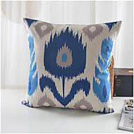 современный стиль синий цветочный узор хлопок / лен декоративная подушка крышка