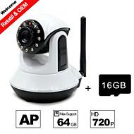 besteye® visão cartão de 16GB tf e HD720P h.264 p2p câmera IP WIFI 1.0m pixels IR PTZ noite com fio ou wireless Wi-Fi câmera