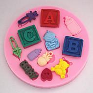 artigos de forno bebê molde fondant decoração do bolo molde sm-255