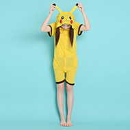 Pocket Little Monster Pikachu Cotton Adult Unisex Summer Style Kigurumi Pajamas Animal Onesie Sleepwear