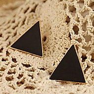 Classic Colored Enamel Triangle Earring
