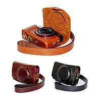 dengpin pu læder kamerataske taske dække med skulderrem til Canon PowerShot sx710 hs sx700 hs (assorterede farver)