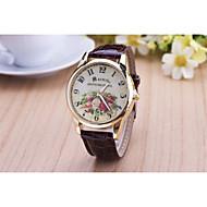 Women's Fashion Diamond Flower Quartz Analog Leather Print Wrist Watch(Assorted Colors) Cool Watches Unique Watches