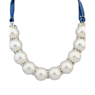 Women's European Style Fashion Sweet Graceful Necklace With Imitation Pearl Rhinestone