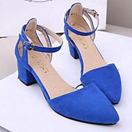 Chaussures Femme - Bureau & Travail - Noir / Bleu / Rose / Violet - Gros Talon - Talons / Bout Pointu - Talons - Faux Daim