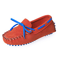 Boys' Shoes Casual Fleece Boat Shoes Green/Tan/Orange