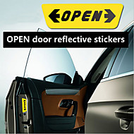 RUNDONG® Car Decoration Door Safety Reflective OPEN Caution Stickers(Color Selection)