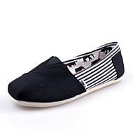 Women's/Men's/Lovers' Shoes Office & Career/Casual Canvas Loafers Black/Blue/Red/Gray