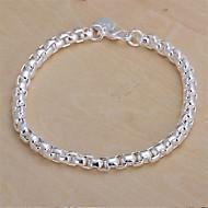Heren Dames Armbanden met ketting en sluiting Modieus Sterling zilver Geometrische vorm Sieraden VoorBruiloft Feest Dagelijks Causaal